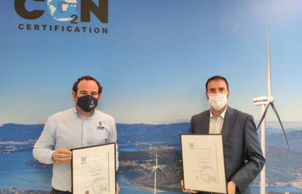 Certificado de Huella de Carbono 100% compensada NAUTA SANXENXO